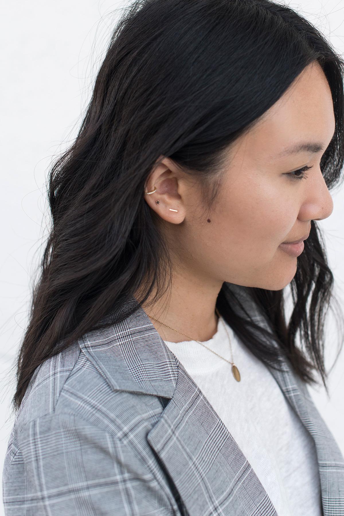 Satomi Kawakita The Tiniest Black Diamond Stud